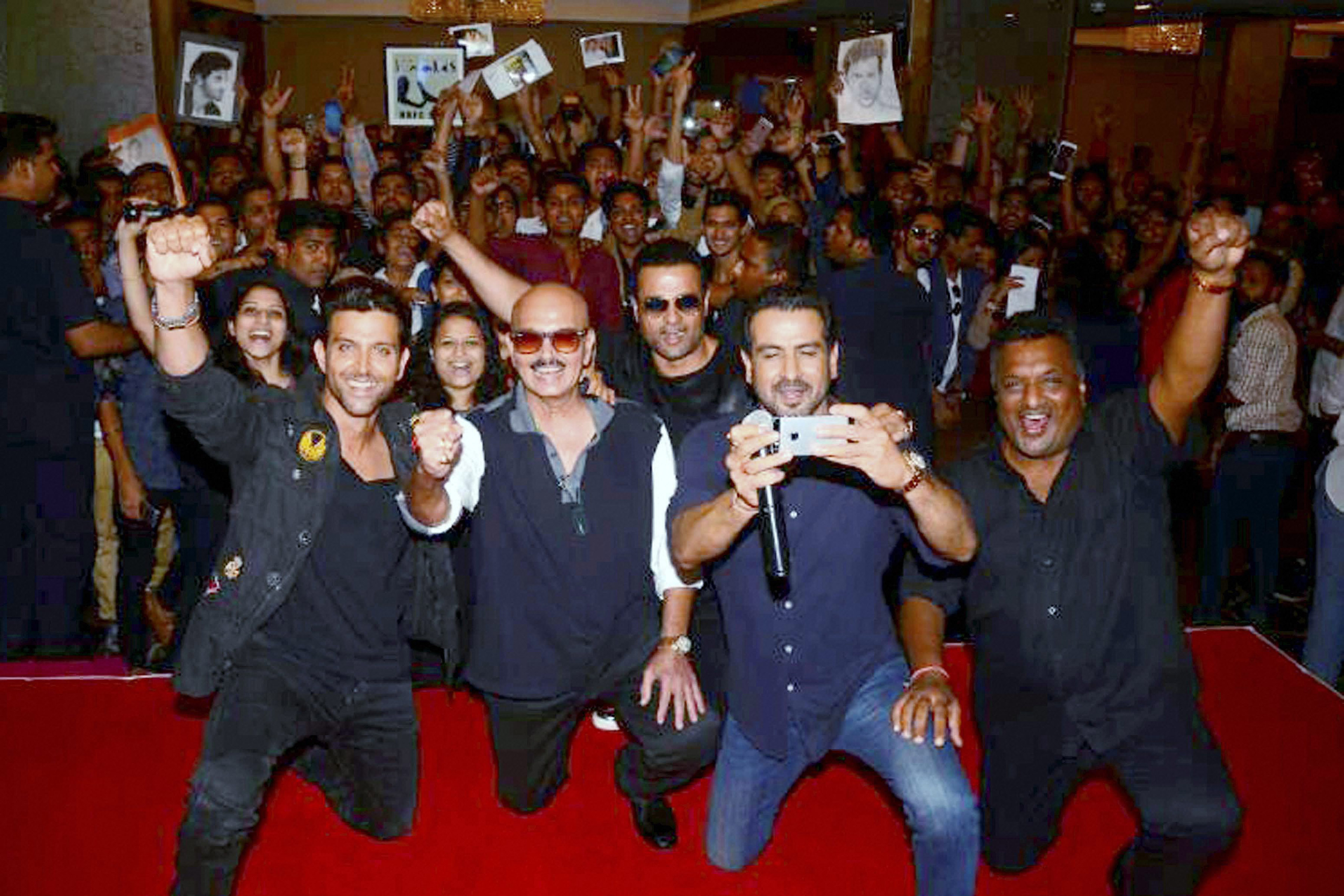 Bollywood actor Hrithik Roshan during the meet and greet with Fans for his Film Kaabil in Mumbai- PTI
