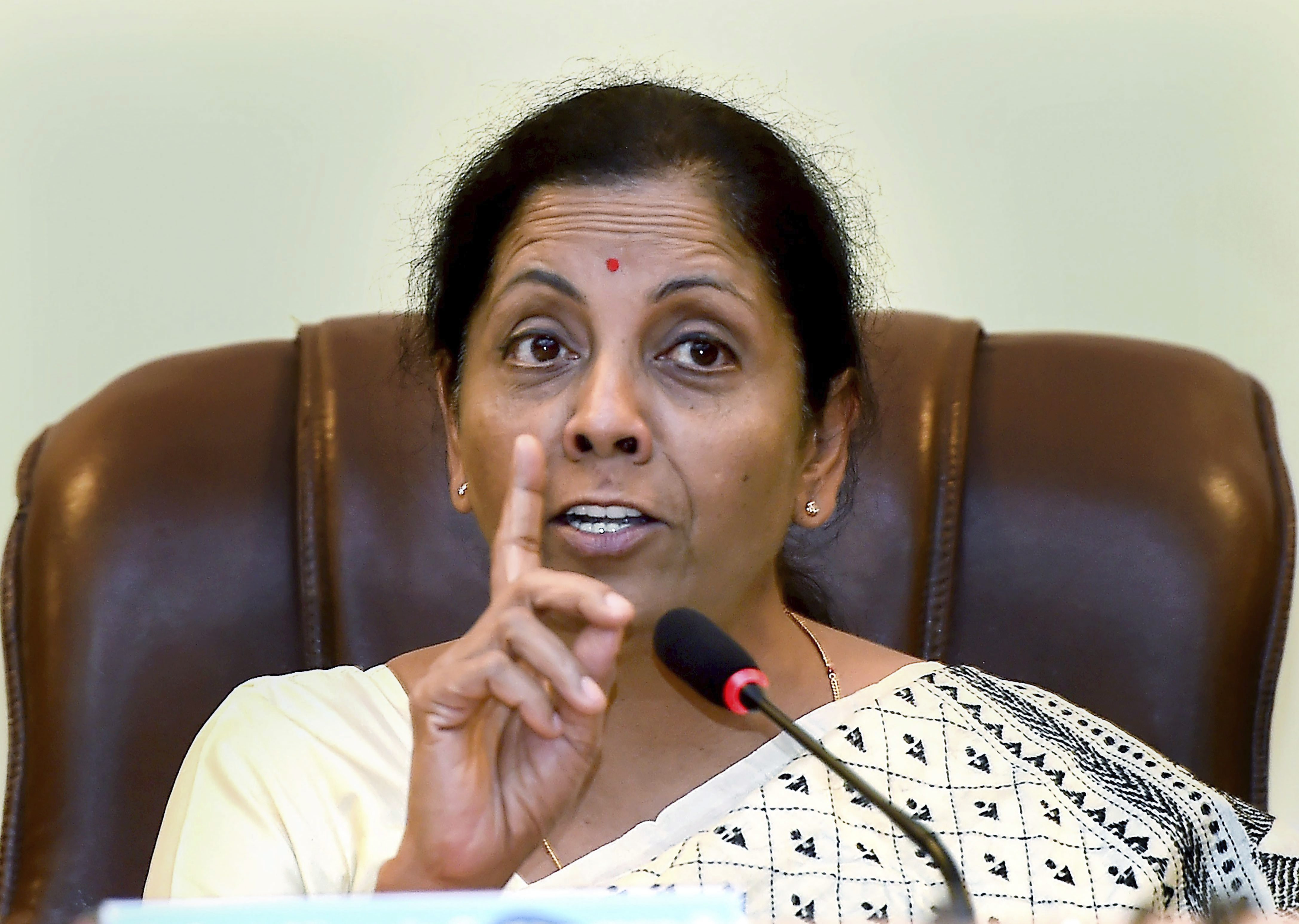 Union Defence Minister Nirmala Sitharaman speaks during a press conference at Yelahanka airforce station in Bengaluru - PTI