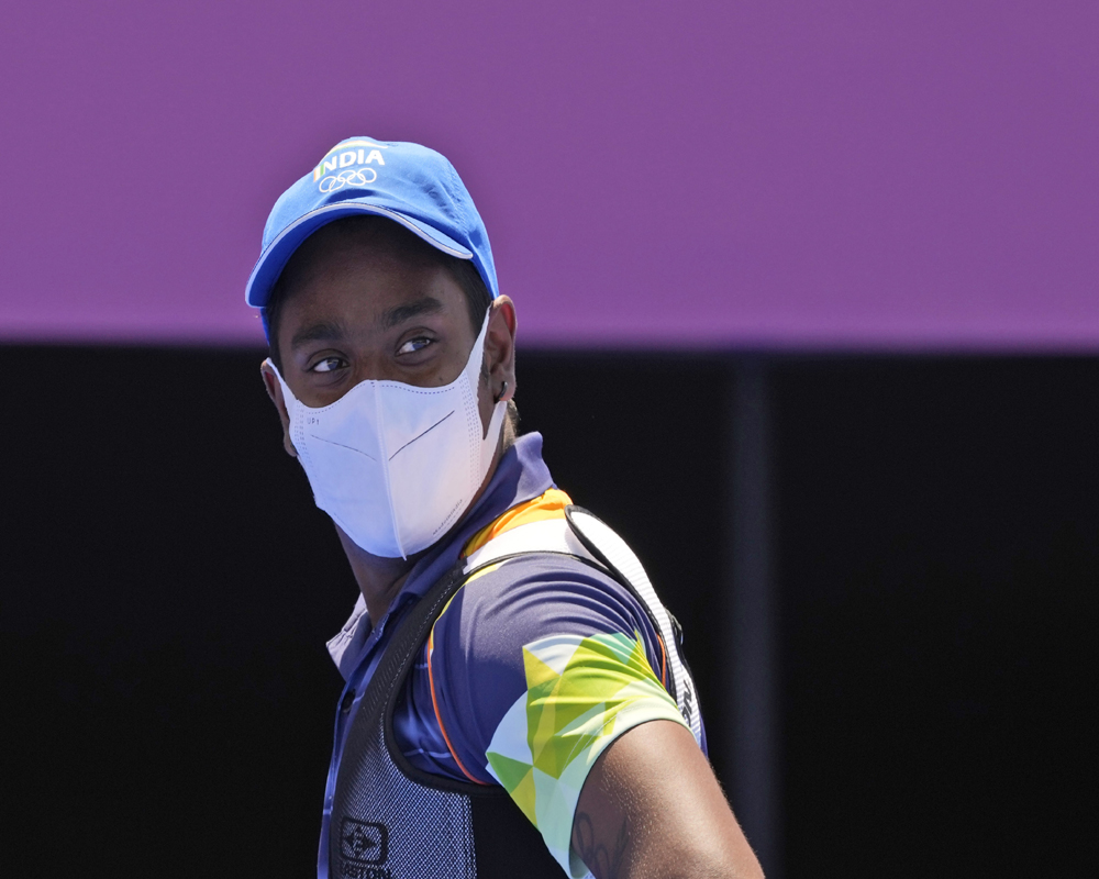 Tokyo: India's Atanu Das looks on after winning his individual eliminations match against South Korea's Oh Jinhyek at the 2020 Summer Olympics