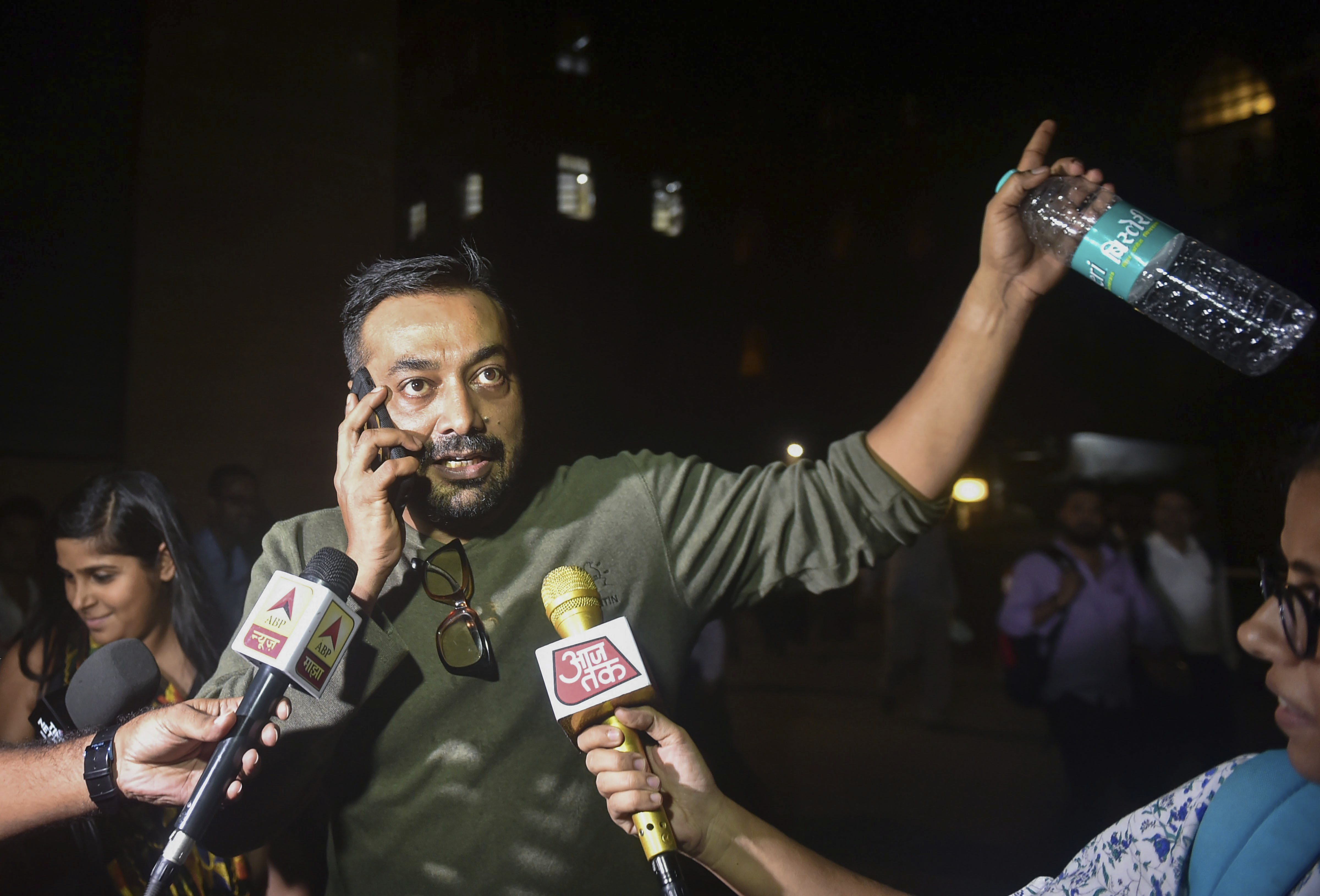 Filmmaker Anurag Kashyap leaves Bombay High Court after attending a hearing on the defamation case filed against him by filmamker Vikas Bahl, in Mumbai - PTI