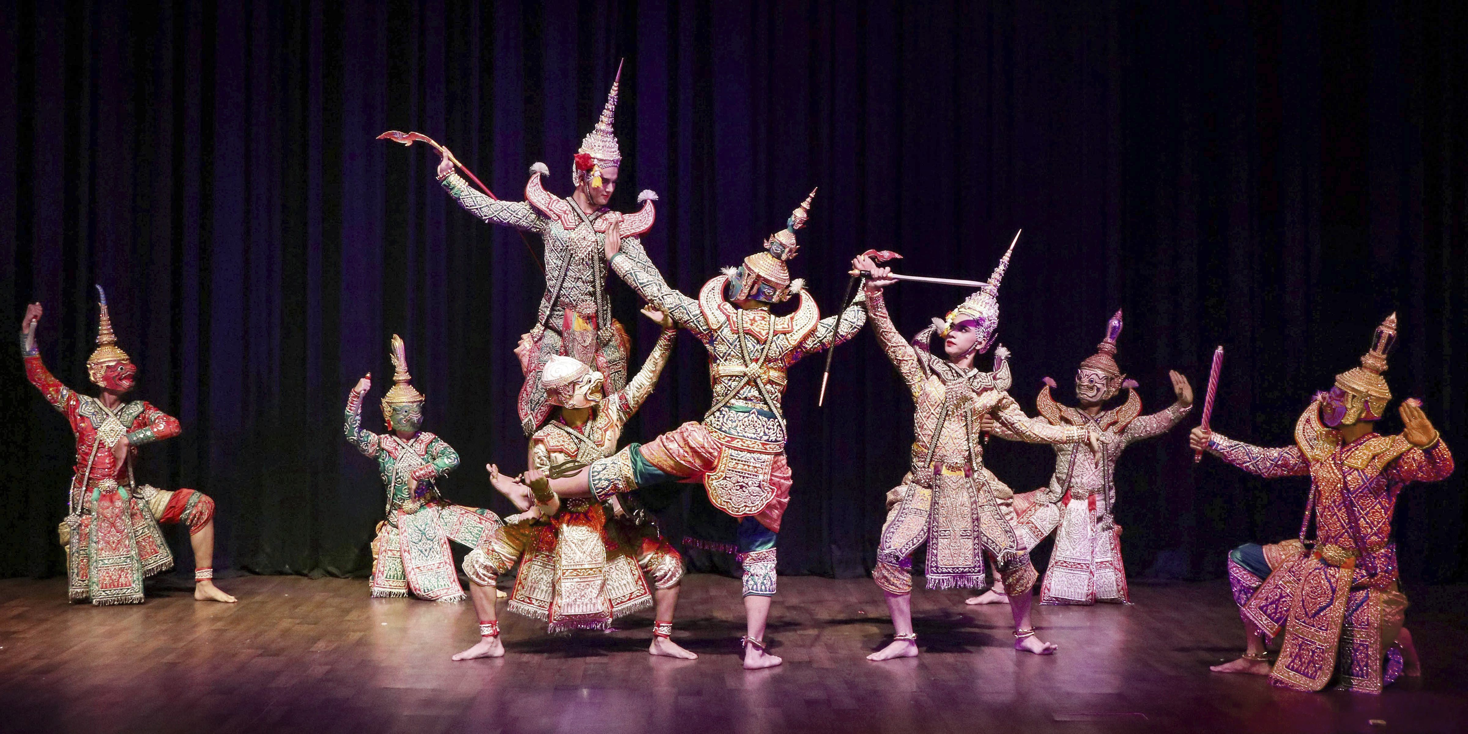 Artists of Ramayana Group from Thailand perform at 4th International Ramayana festival organised by Indian Council For Cultural Relations in Bhopal - PTI