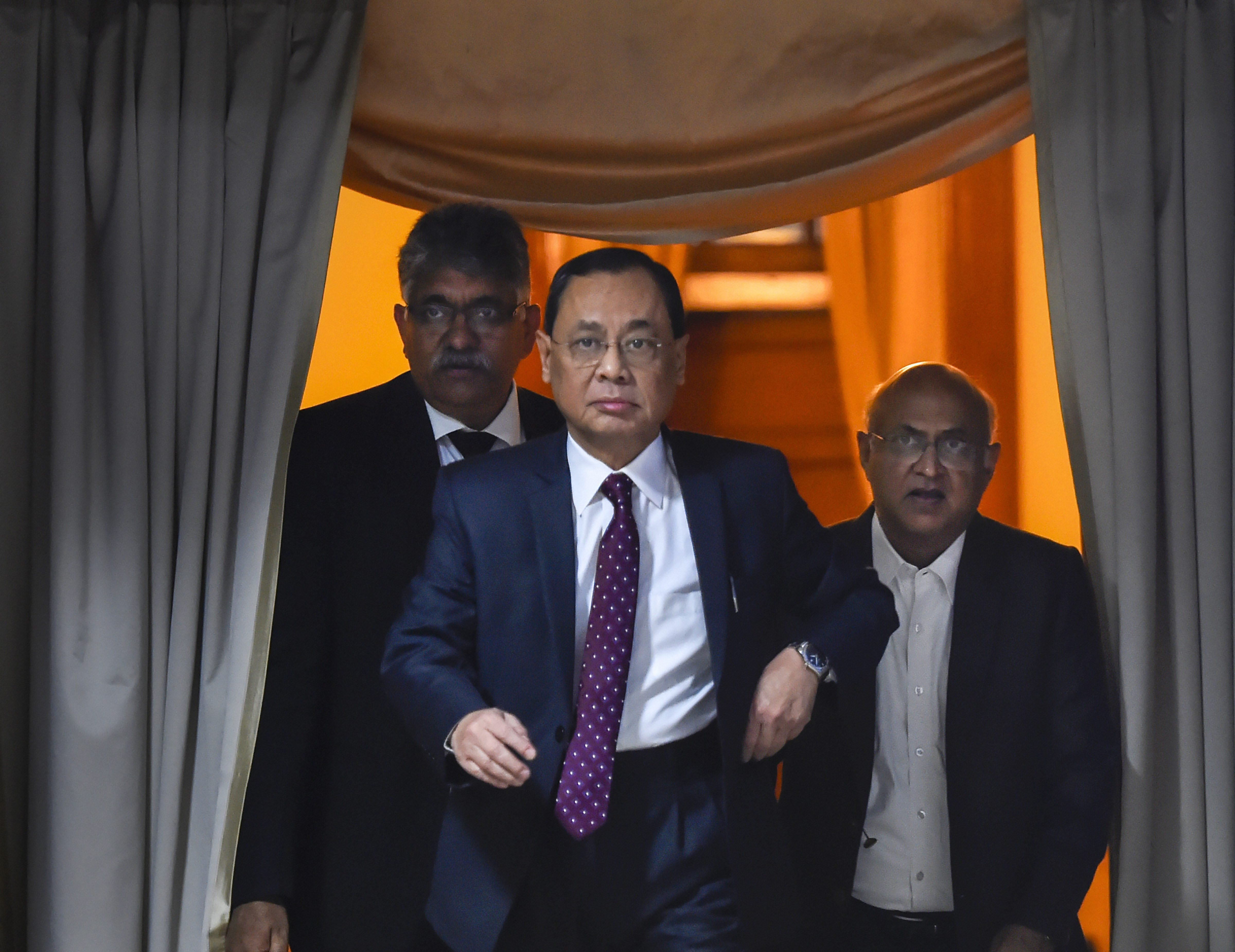Chief Justice of India Ranjan Gogoi arrives for the launch of 'guided-tour to the premises of the Supreme Court of India' in New Delhi - PTI