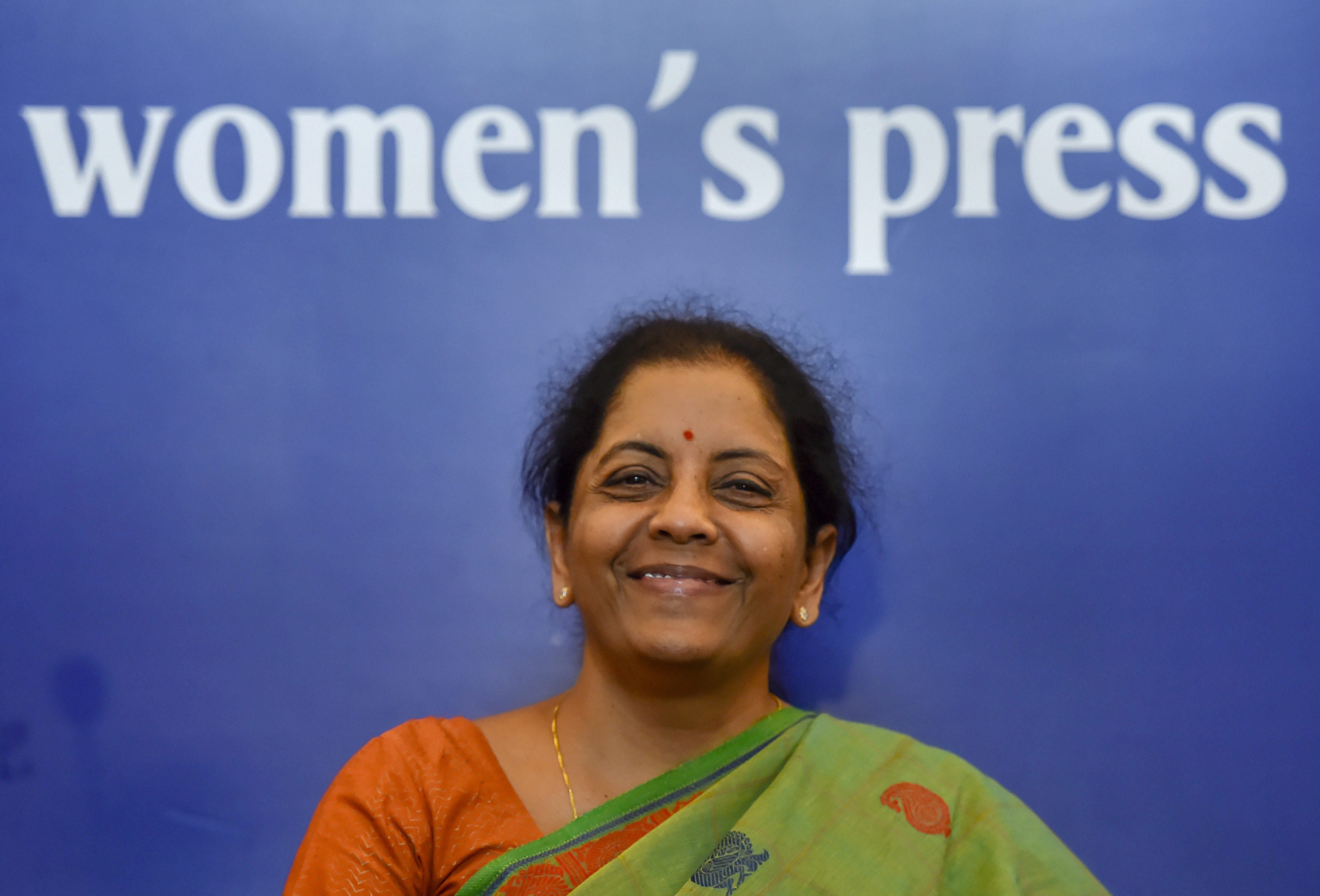 Defence Minister Nirmala Sitharaman addresses a press conference, in New Delhi - PTI