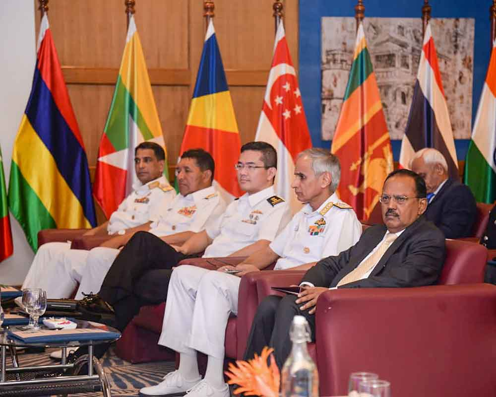 National Security Advisor Ajit Kumar Doval (R) at the inauguration of the second edition of Goa Maritime Conclave (GMC)-2019, in Panaji - PTI