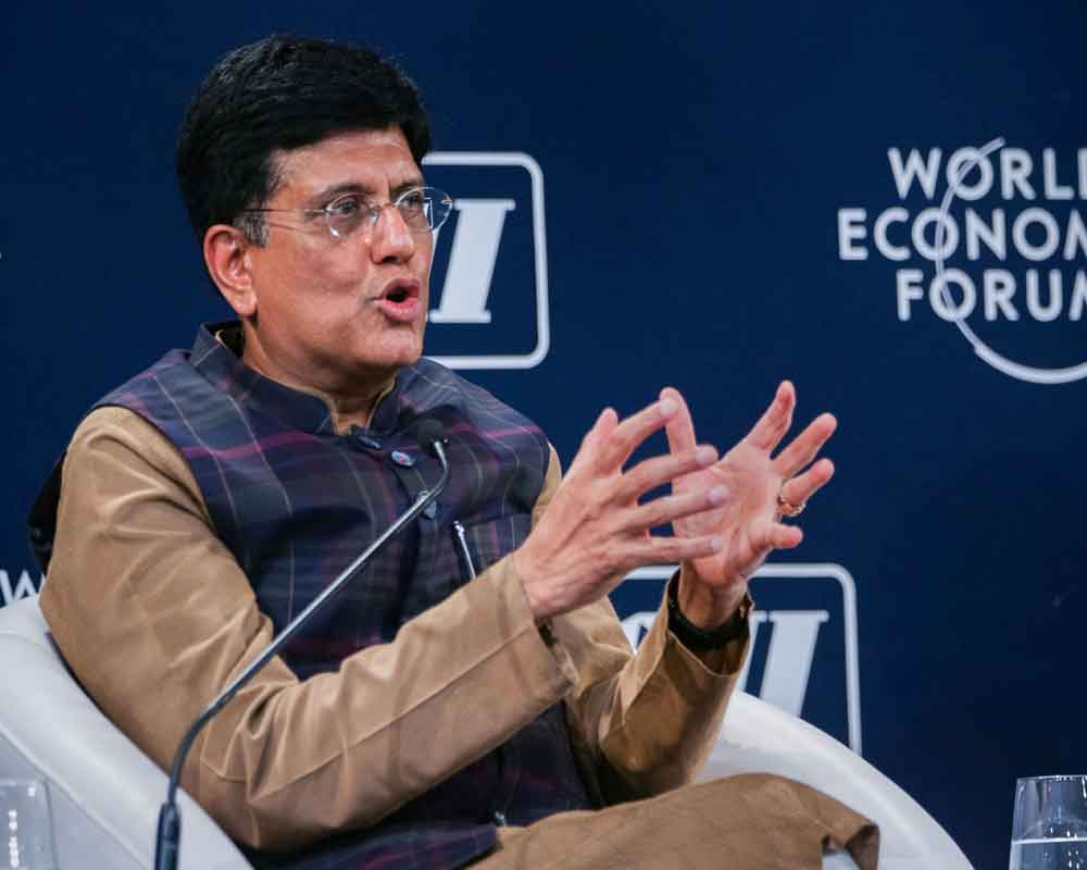 Minister of Commerce and Industry Piyush Goyal speaks during the session 'Trading Against the Tide' at the India Economic Summit 2019 in New Delhi - PTI