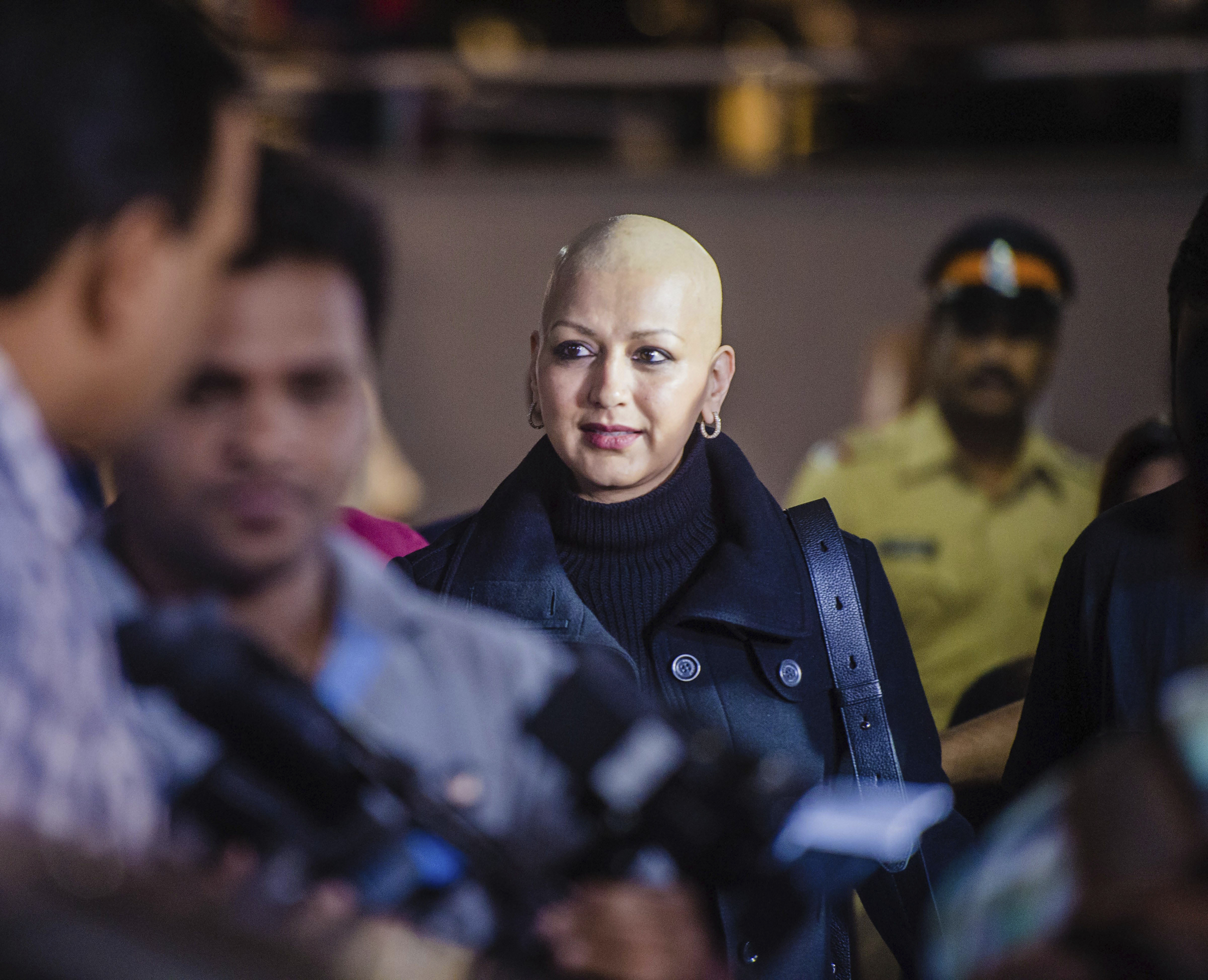 Actress Sonali Bendre on arrival in Mumbai - PTI