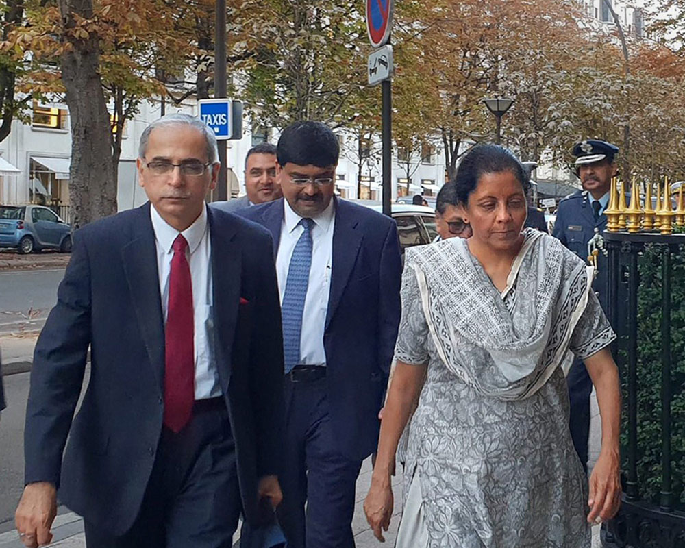 Defence Minister Nirmala Sitharaman arrives for the first India-France Ministerial level annual Defence Dialogue, in Paris - PTI