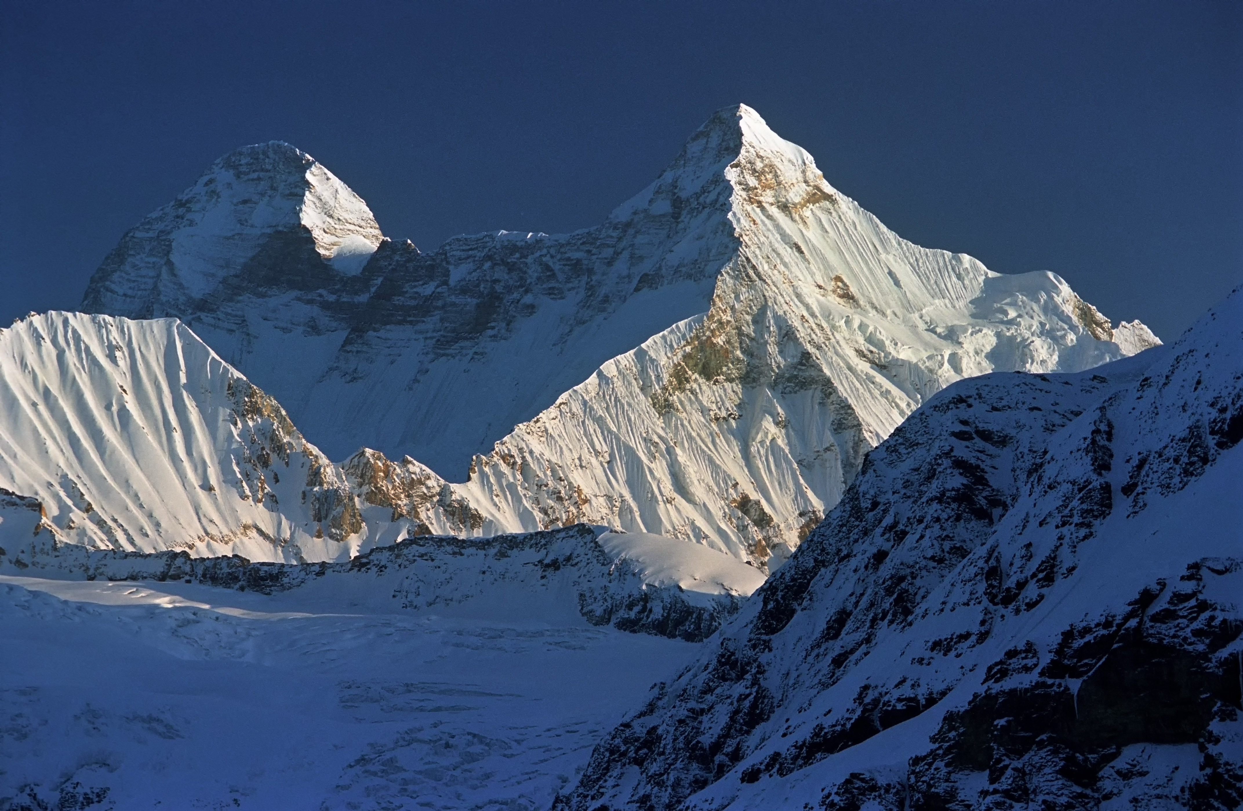A view of the Nanda Devi and Nanda Devi East twin peak as seen from near Pindari Valley in the Bageshwar district - PTI