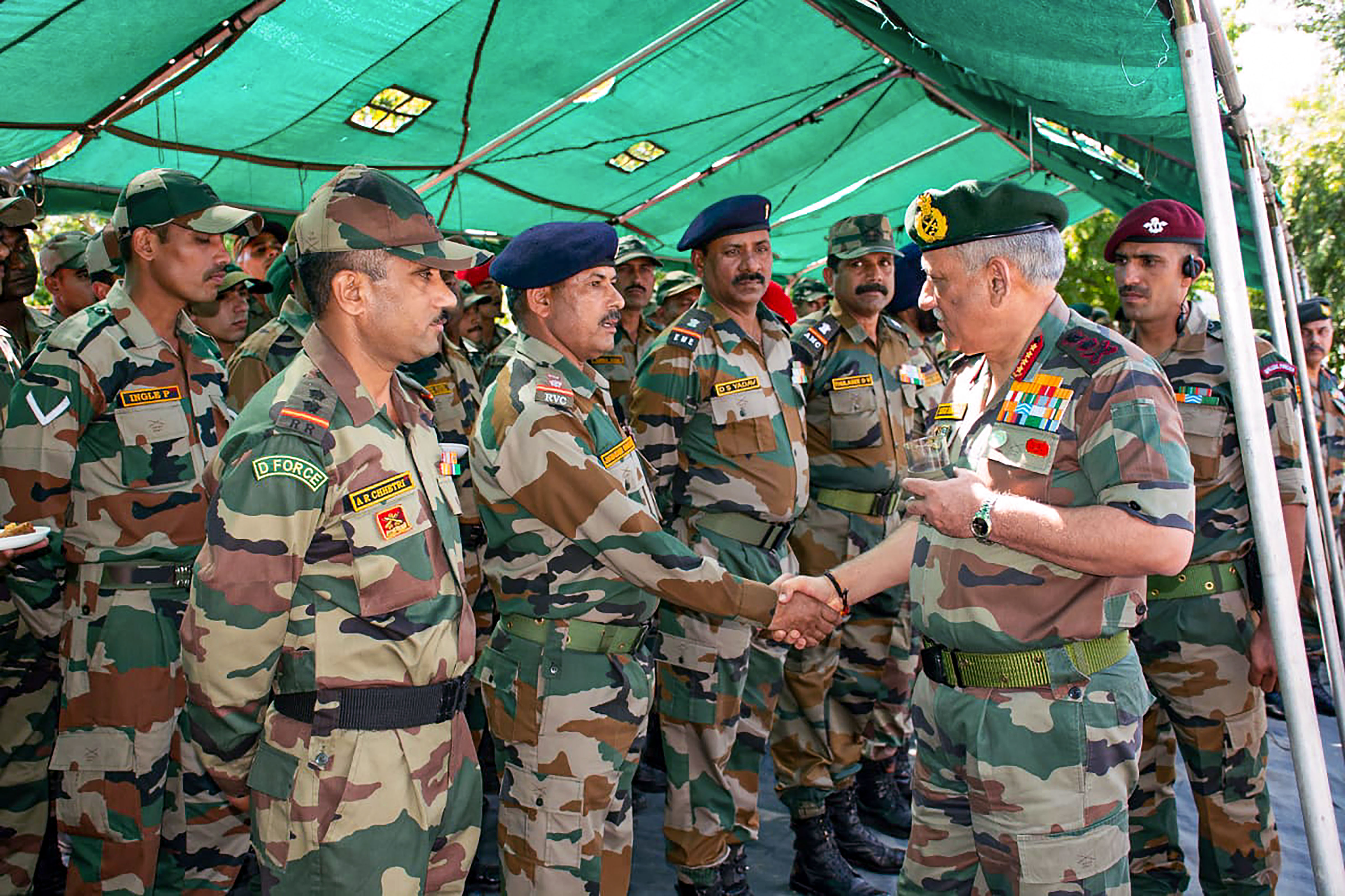 Chief of Army Staff General Bipin Rawat visits the White Knight Corps alongwith Lt Gen Ranbir Singh to review the operational preparedness of the forces, in Jammu - PTI