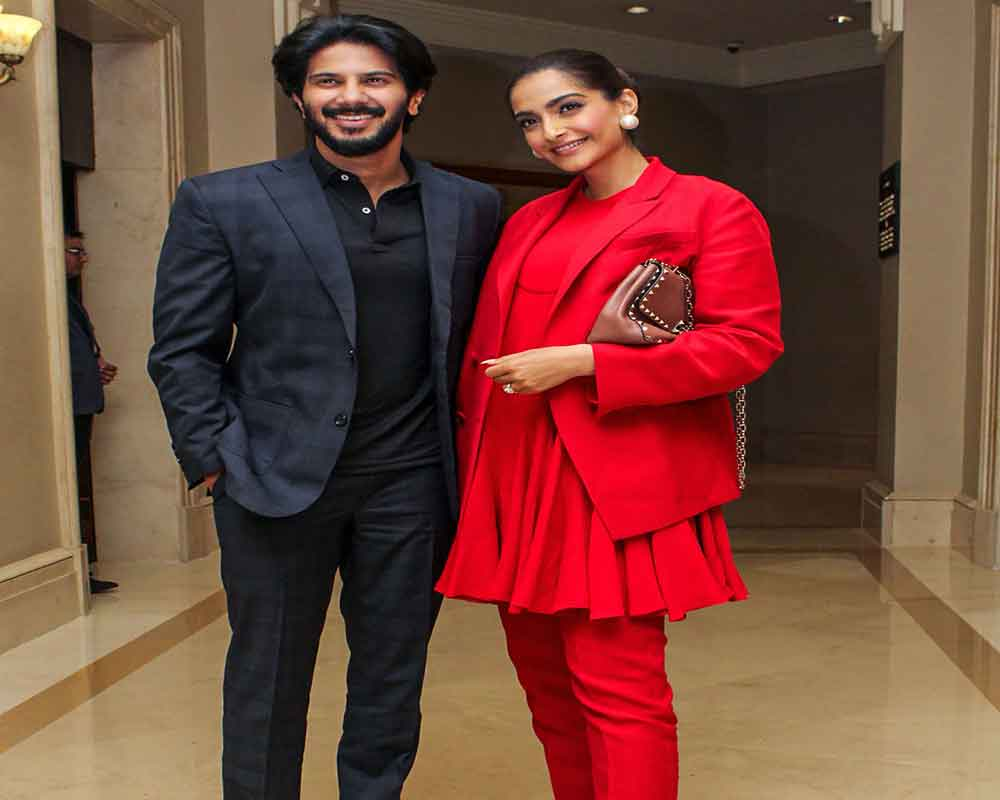 Bollywood actors Sonam Kapoor and Dulquer Salman during the promotions of their upcoming film 'The Zoya Factor', in Mumbai - PTI