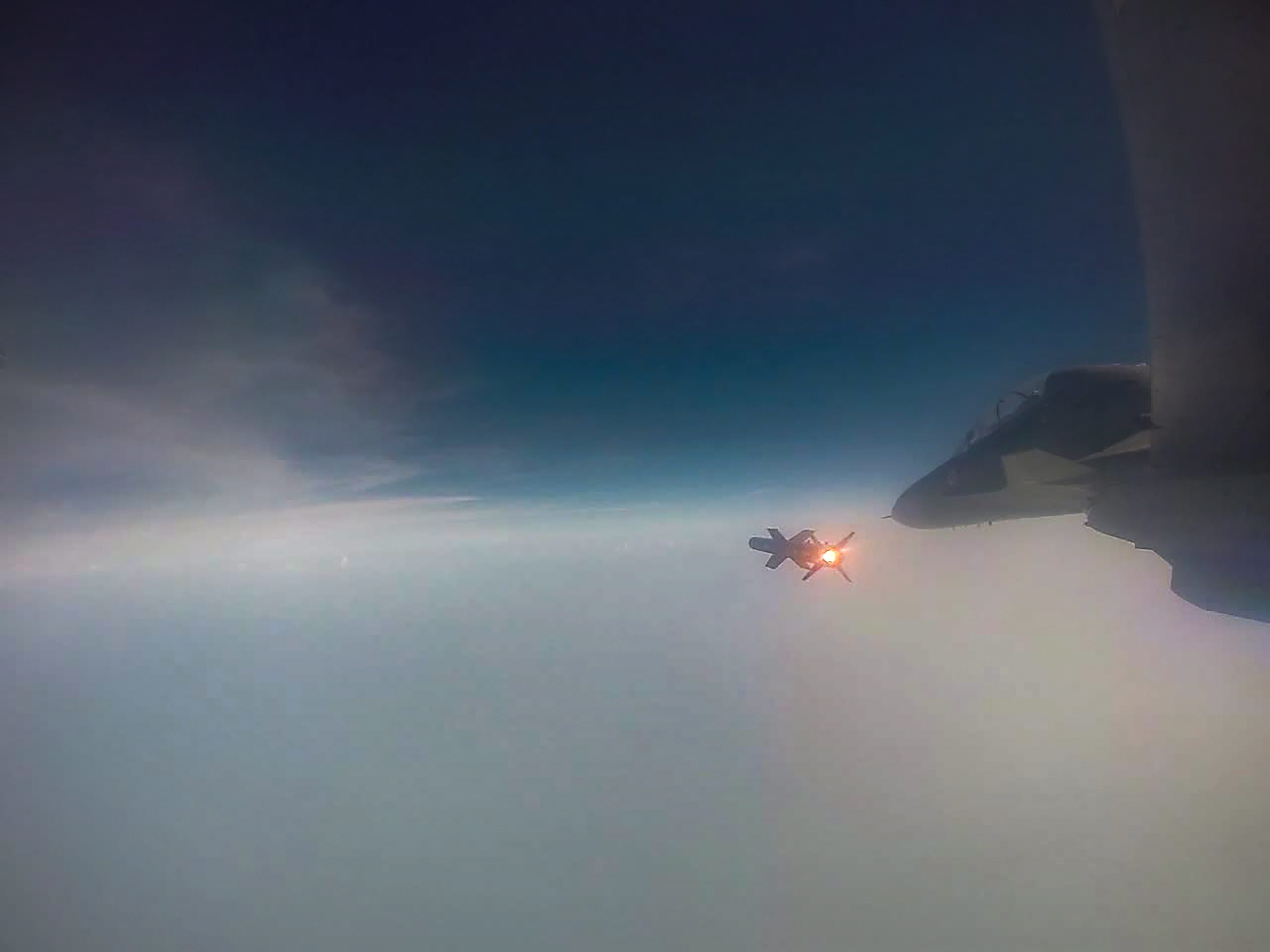 Astra, the indigenously developed Beyond Visual Range Air-to-Air Missile (BVRAAM), during its successful test firing by the Indian Air Force from Su-30 aircraft, from Air Force Station, Kalaikunda - PTI