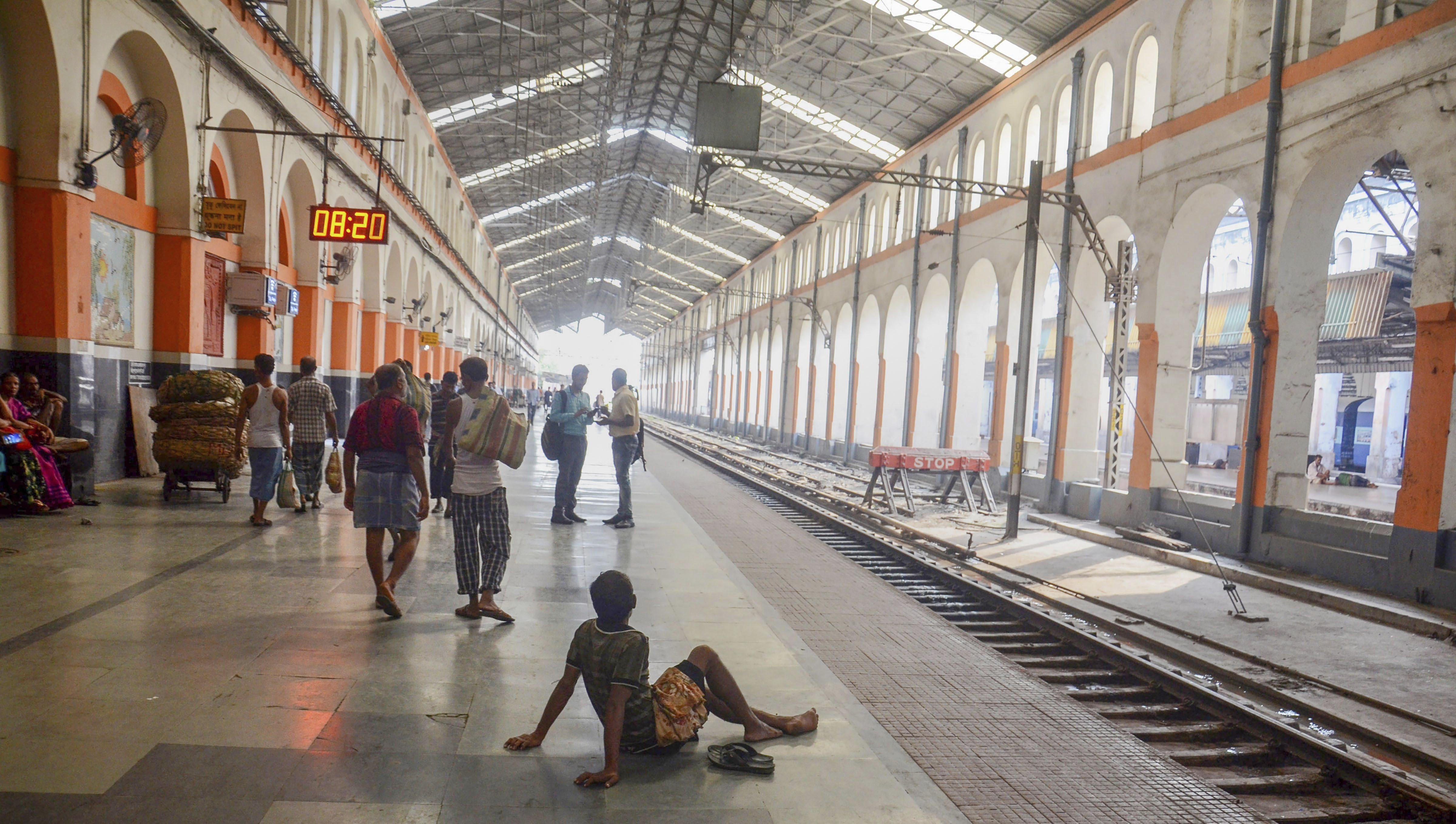 A view of a platform at the Sealdah Railway Station during the 'Bangla Bandh' strike, called by BJP against the State government, in Kolkata - PTI