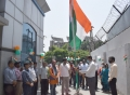 The Pioneer office unfurls the Tricolour flag on the occasion of the 75th Independence Day celebrations
