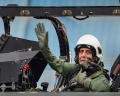 Today's Photo : Defence Minister Rajnath Singh prepares to fly in the Tejas fighter aircraft