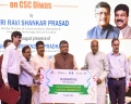 Today's Photo : Ravi Shankar Prasad with Petroleum Minister Dharmendra Pradhan and Minister of State for IT Sanjay Shamrao Dhotre during CSC day