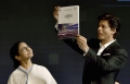 Today's Photo : West Bengal Chief Min. Mamata Banerjee with Bollywood actor Shahrukh Khan in KIFF