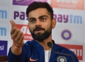 Today's Photo: Virat Kohli addresses a press conference on the eve of the 1st pink-ball day/night cricket test match