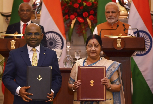 Today's Photo : PM Modi with Maldivian President Ibrahim Mohamed Solih