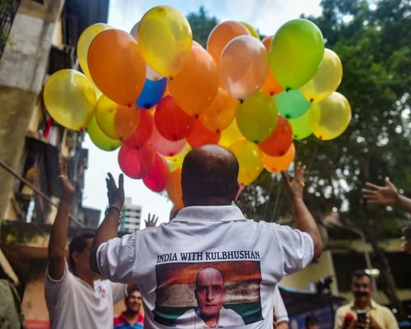 Today's Photo : Supporters of Kulbhushan Jadhav celebrate after International Court of Justice's verdict