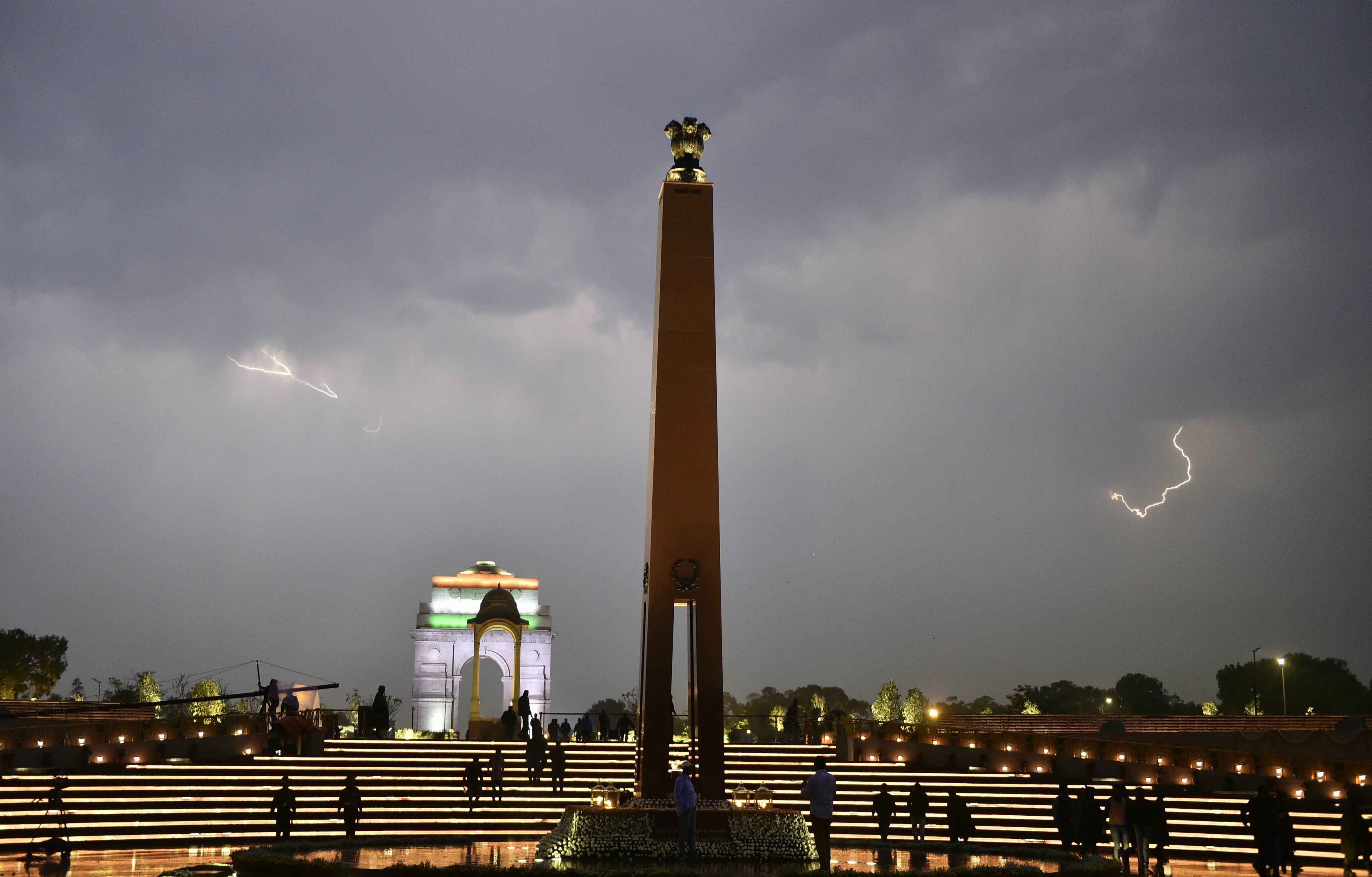 A view of the newly inaugurated National War Memorial (NWM), at India Gate complex in New Delhi - PTI