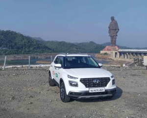 The Great India Drive flags off at the Statue of Unity